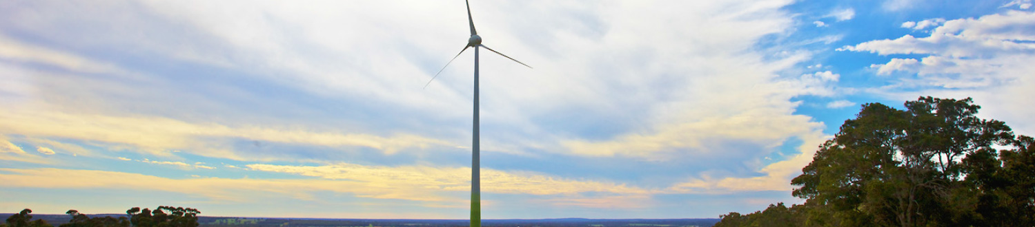 Contact - Wind turbine sunset