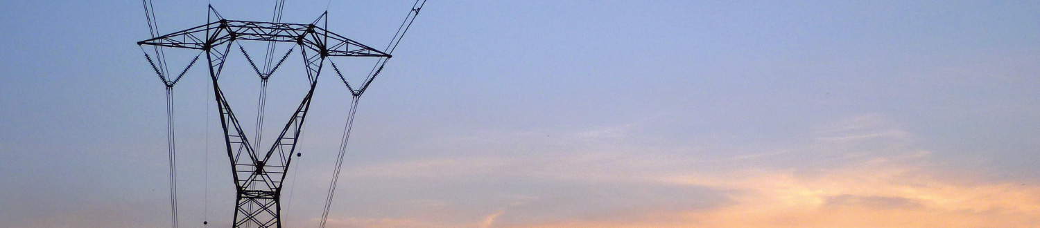 Electricity - Powerlines in sunset
