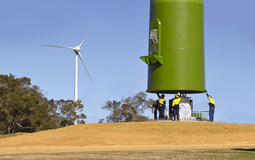 Electricity - Our Energy Mix - Wind Turbine Installation